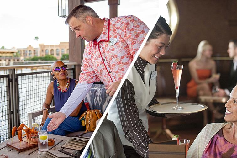 Service at Disney World and Disney Cruise Line