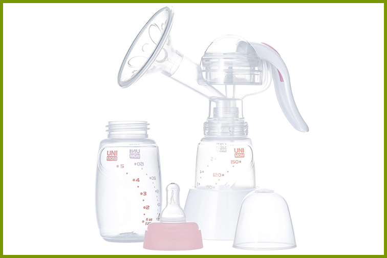 Unimom Manual Breast Pump with Soft Silicone Massaging Breast Shield ; Courtesy Amazon