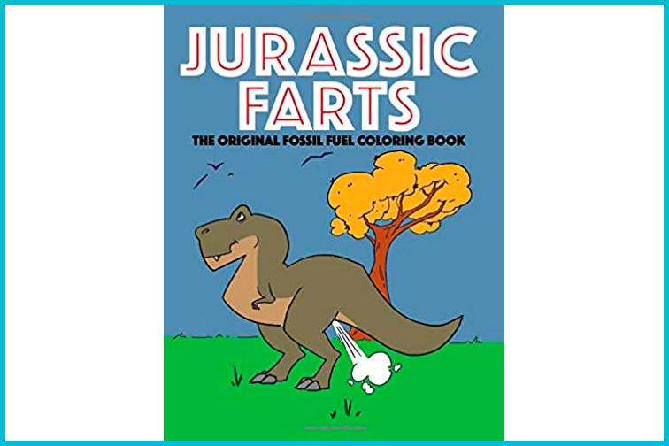Jurassic Farts Fossil Fuels Coloring Book; Courtesy Amazon