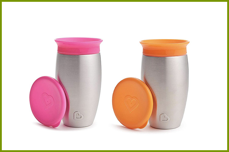 Munchkin Miracle Stainless Steel 360 Sippy Cup; Courtesy Amazon