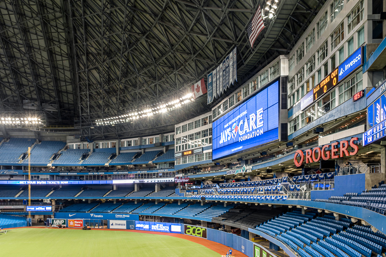 Rogers Centre – Toronto, Canada; Courtesy Freaktography/Shutterstock