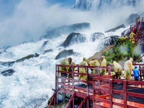 Visitors at Niagara falls; Courtesy Lidiia Kozhevnikova/Shutterstock