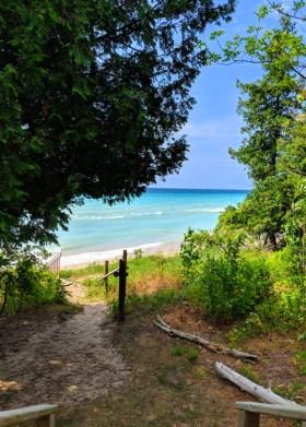 Sleeping Bear Dunes Lake Michigan Walkway to Beach. Courtesy LukeandKarla.Travel/Shutterstock