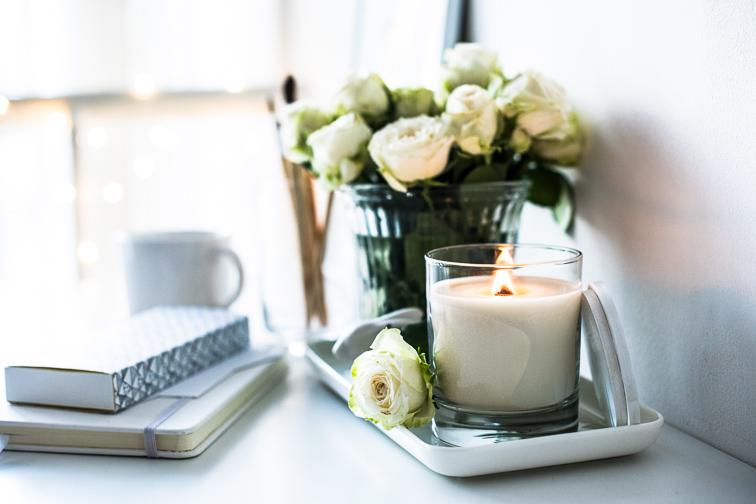 candle in home interior; Courtesy Daria Minaeva/Shutterstock