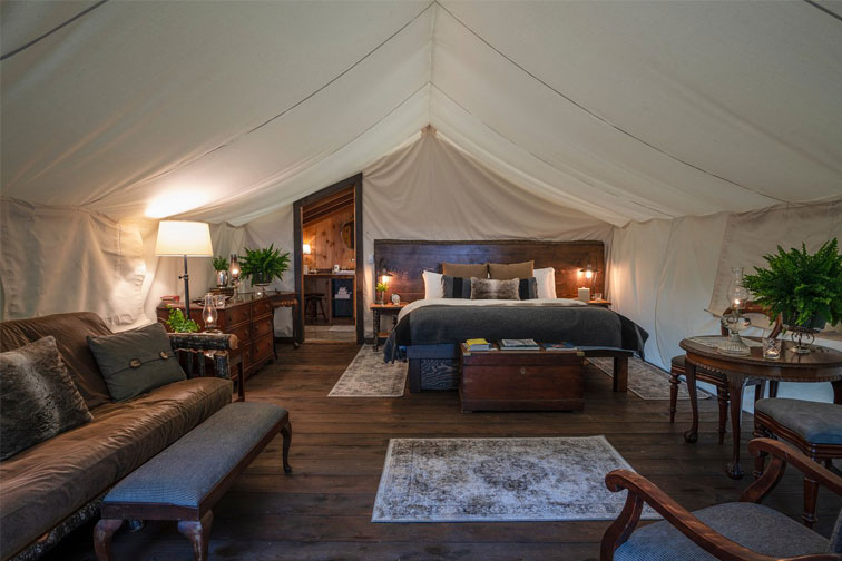 Clayoquot Wilderness Resort Luxury Tent; Courtesy of Clayoquot Wilderness Resort