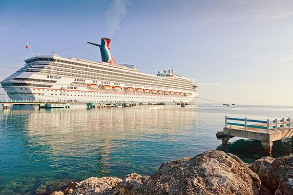 Carnival Cruise docked in Ocho Rios, Jamaica.