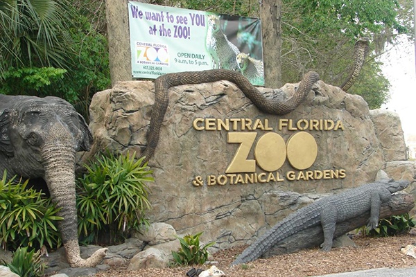 Entrance to the Central Florida Zoo and Botanical Gardens