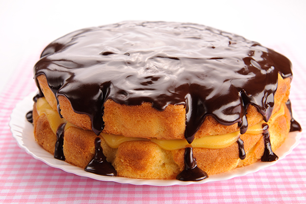 The original Boston cream pie is one of the best famous foods in the US.