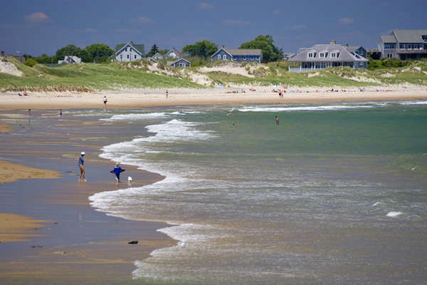 Crescent Beach on Block Island in Rhode Island.