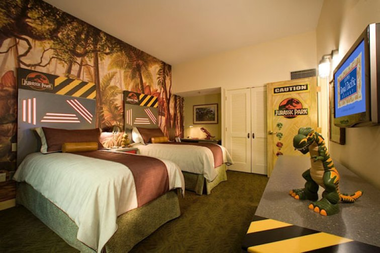 Jurassic Park Kids Suite at the Loews Royal Pacific Resort; Courtesy of Loews Hotels