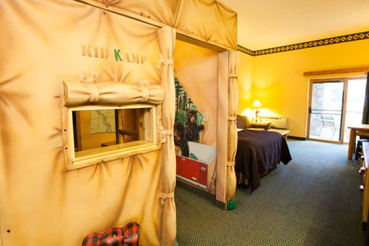 The KidKamp Suite at all Great Wolf Lodge locations; Courtesy of Great Wolf Lodge