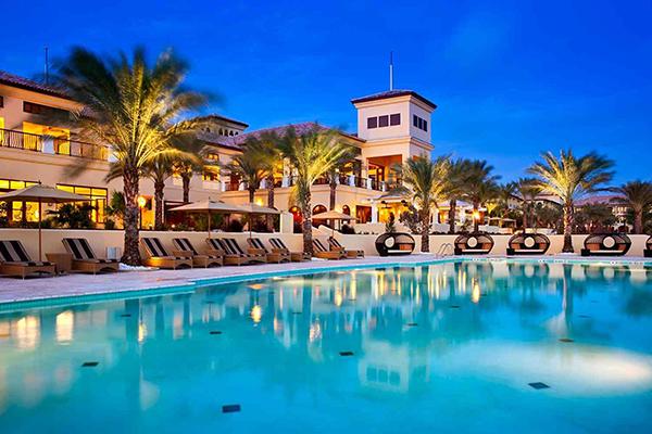 The pool at The Santa Barbara Beach & Golf Resort Curacao.