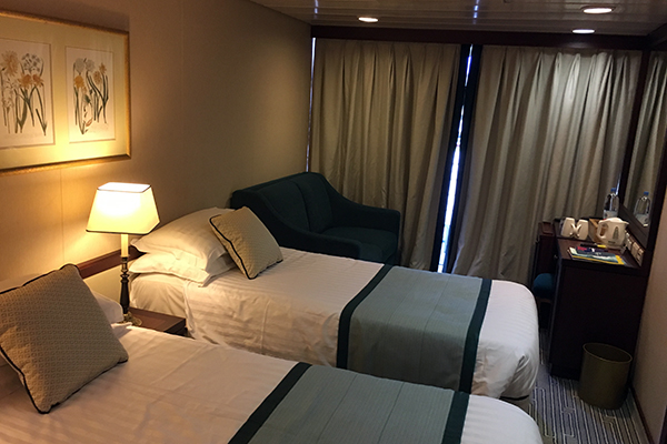A Balcony Stateroom onboard Adonia.