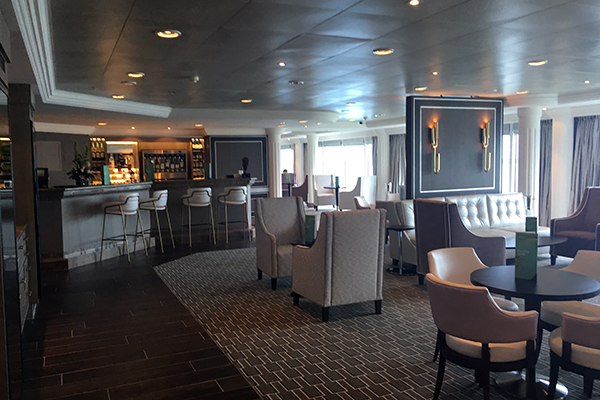 The Glass House onboard Adonia.