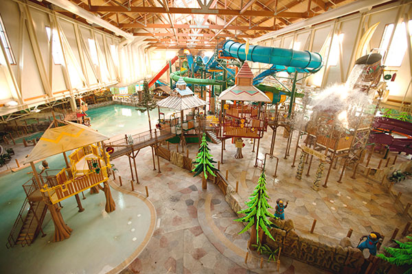 The water park at Great Wolf Lodge Niagara Falls.