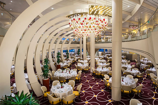 The Dining Room onboard ms Kongingsdam.