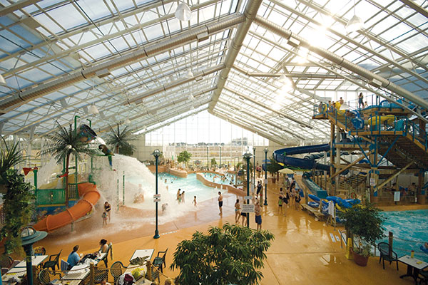 Waves indoor Waterpark at Americana Niagara Falls Hotel in Canada.