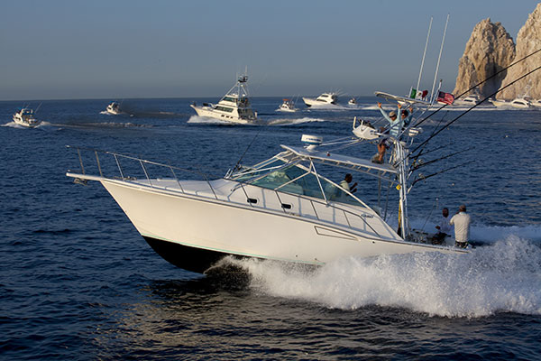 Sport fishing in Cabo, Mexico.