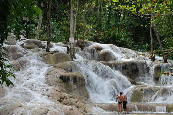 Dunn's River Falls and Park in Ocho Rios, Jamaica.