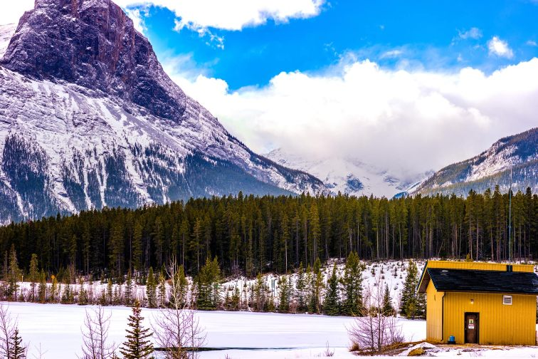Banff National Park in Canada in the Winter