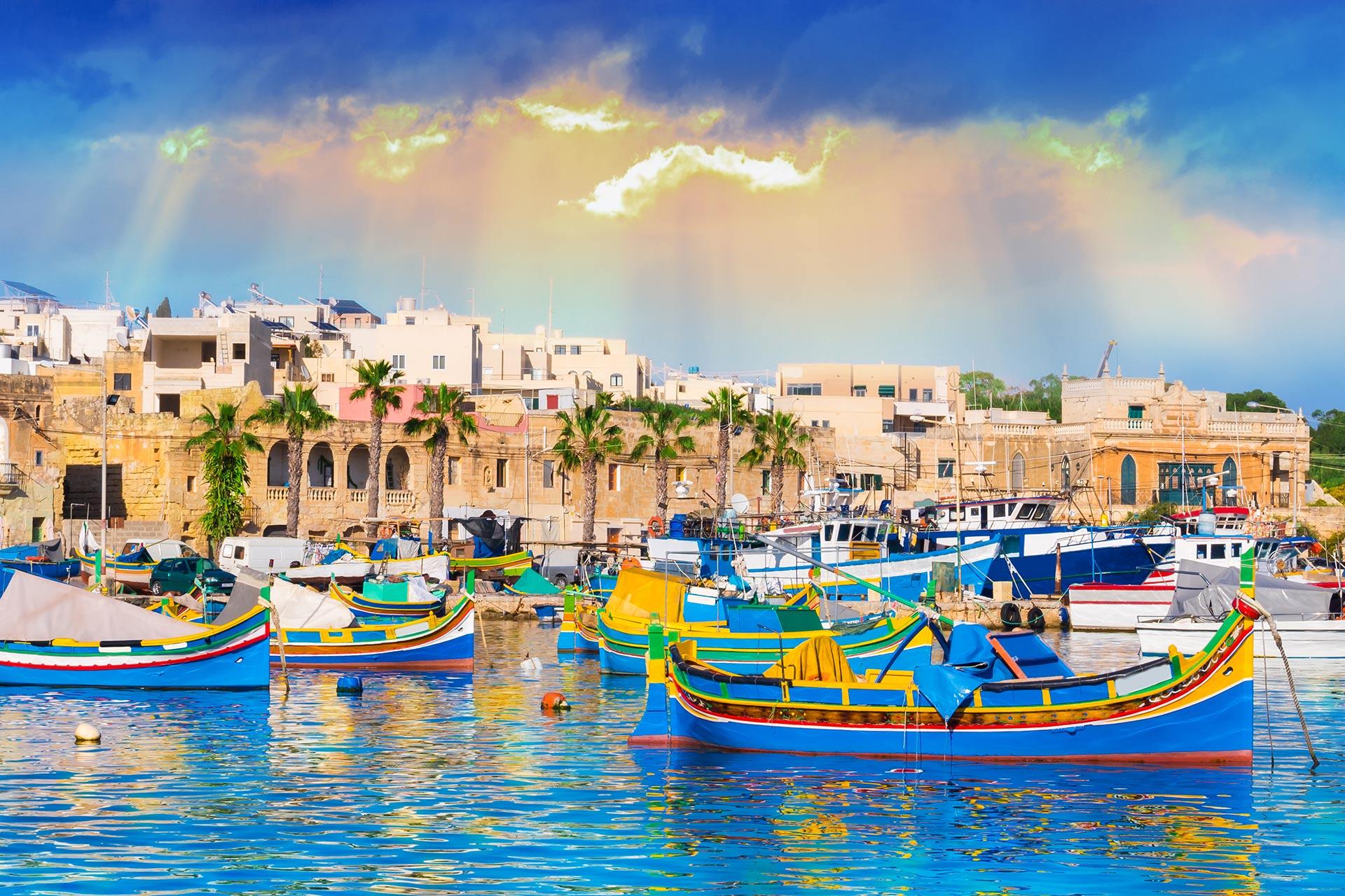 Marsaxlokk Village Harbor of Malta