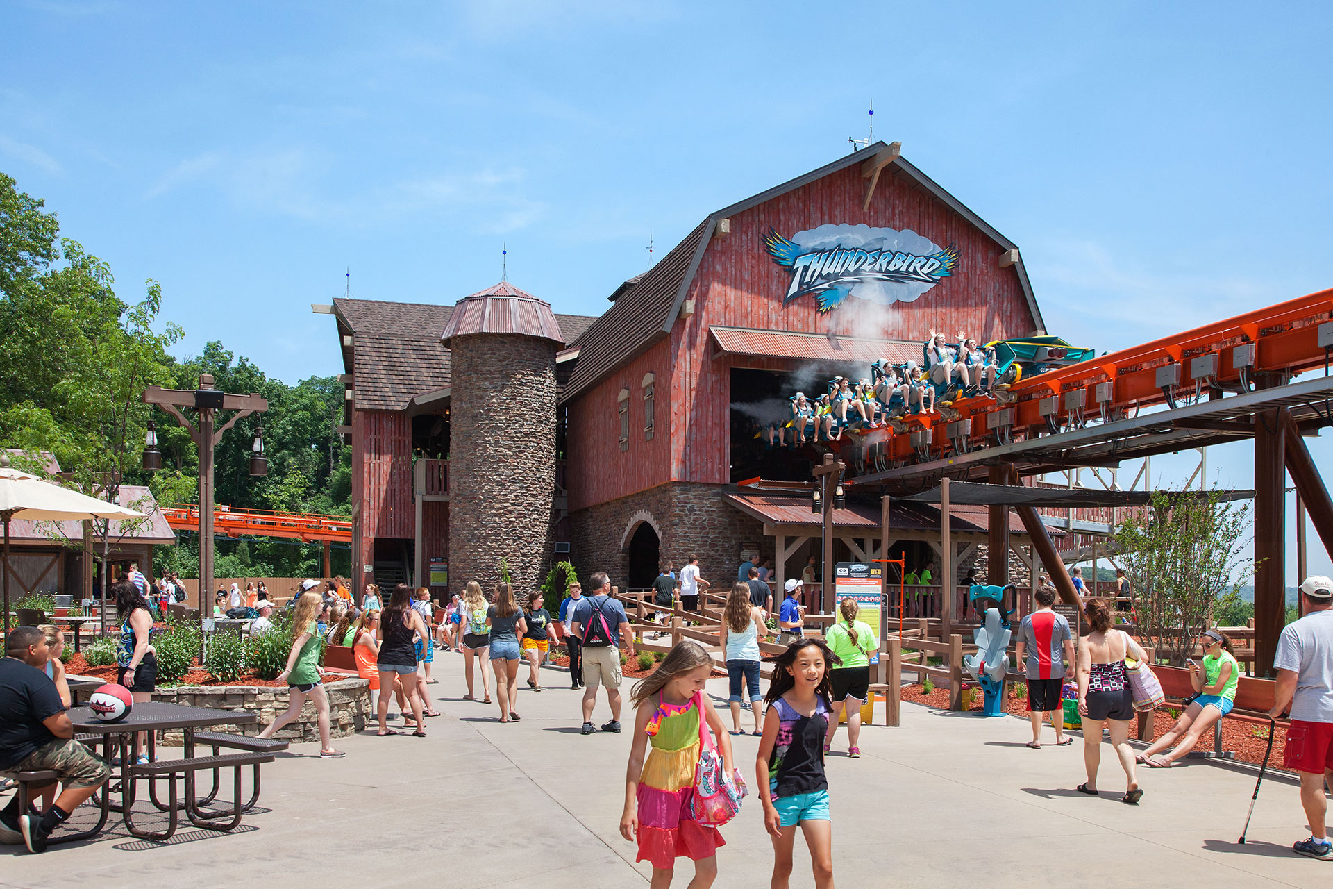 Roller Coaster and Crowds at Holiday World