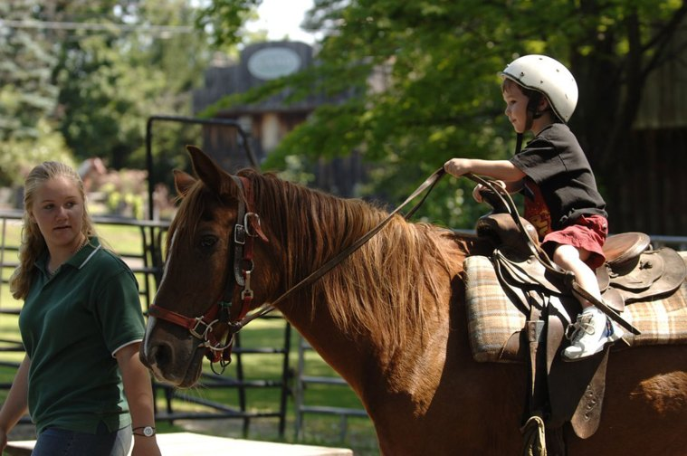 Child on Pony Ride at Pine Ridge Dude Ranch in New York
