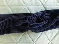 Donkerblauw plisse