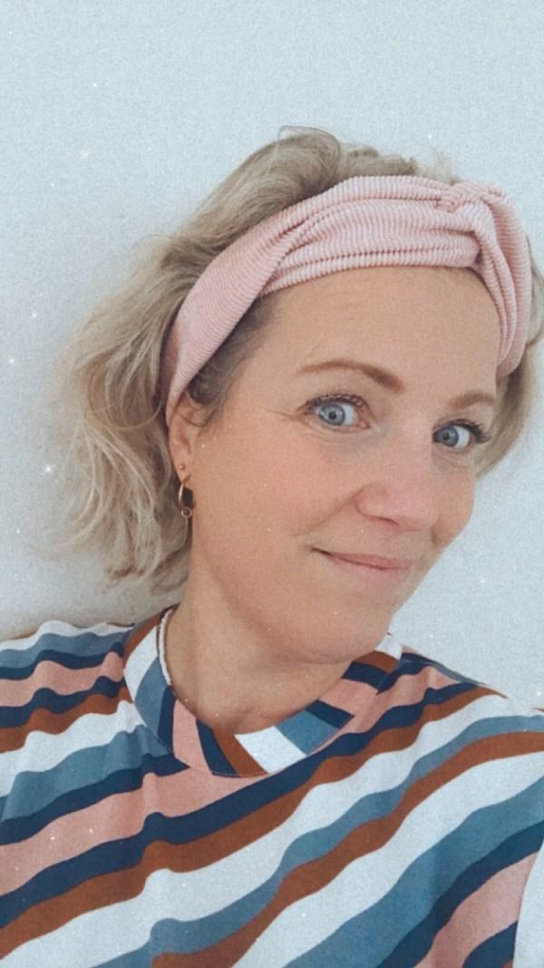 Haarband: roze rib