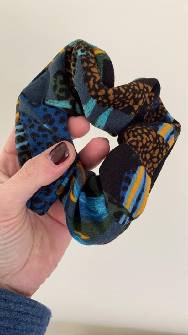Scrunchie: tropical blauw