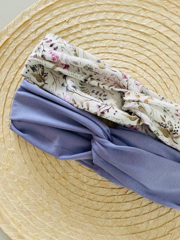 Haarband: veldbloemen lila
