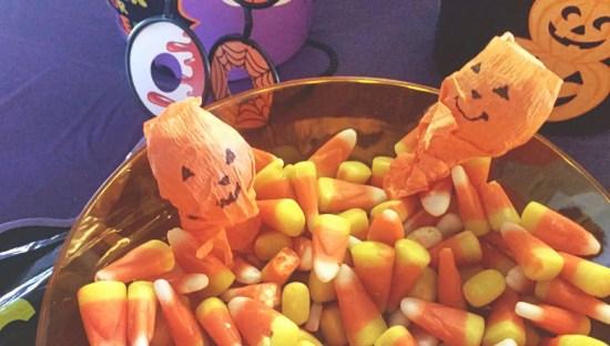 easy and affordable pumpkin lollipops