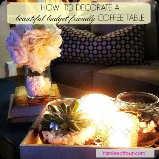 How can you decorate a coffee table under 20$? This shows great place to shop on a budget.