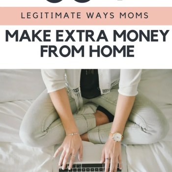 I love these simple ways that busy moms can make extra money from home. With a full time job these are doable to make money.