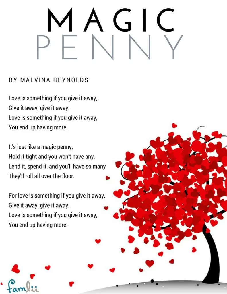 Magic Penny Song Love Is Something If You Give It Away