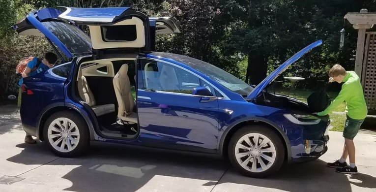 Tesla Model X   The Future of Family Cars is Already Here   Famlii Family loading up their Tesla Model X