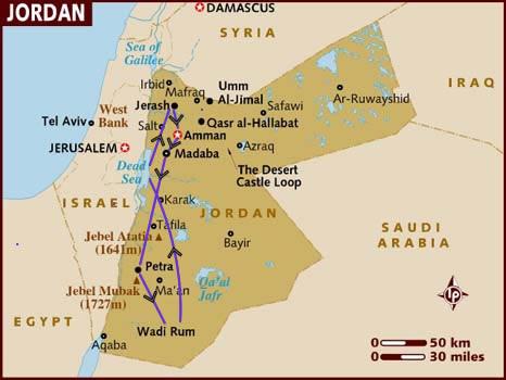 itinerario di viaggio in Giordania