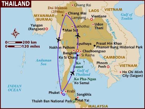 itinerario di viaggio in Tailandia