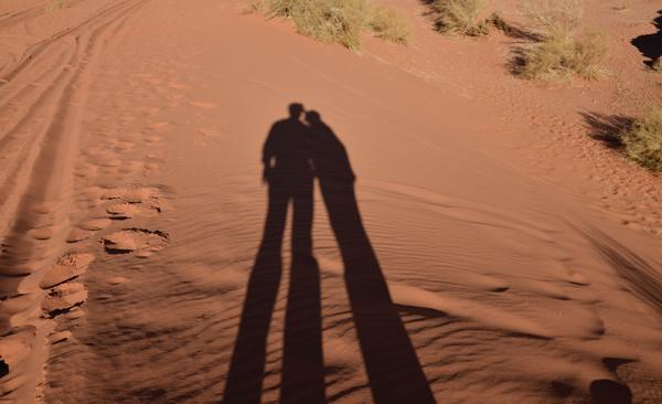 ombre nel Wadi Rum