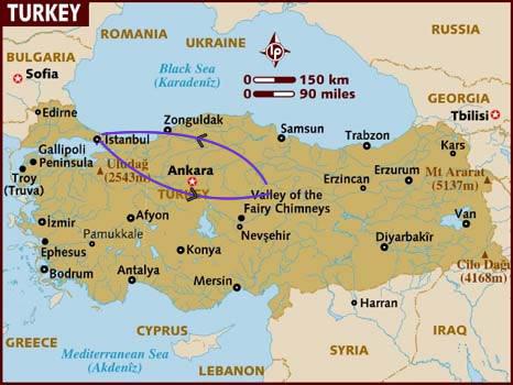 Itinerario di viaggio in Turchia