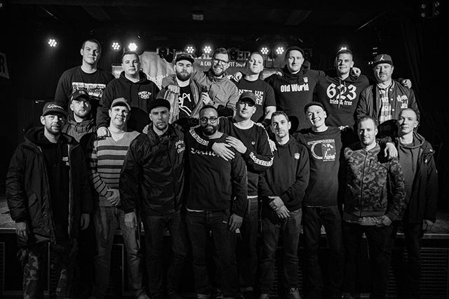 "Landgraaf, 2018. Community can be a beautiful thing. Last night @triedntruehc held a benefit for a friend who is battling cancer. Everyone donated and/or sold stuff to support this cause. This is what hardcore should be about. ""This is a song about finding friendship in a cold hard world and finding family when you had none."" ❤️"