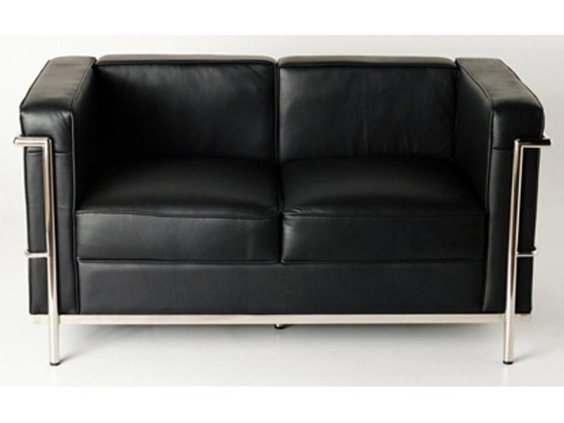 LC2 Le Corbusier 2 Seater Black
