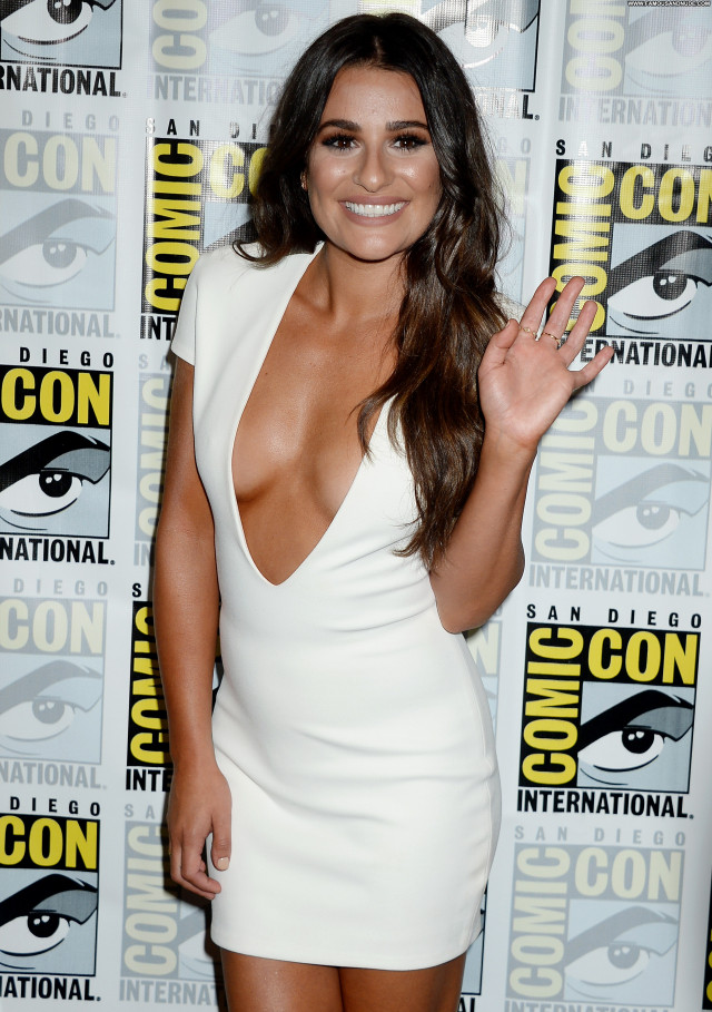 Lea Michele Beautiful American Posing Hot Cleavage Celebrity Tits