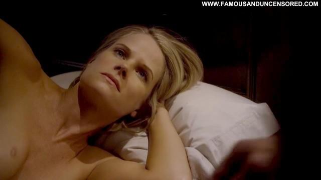 Joelle Carter Justified Bed Breasts Kissing Nude Celebrity Posing Hot