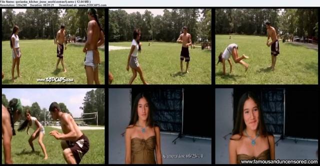 Qorianka Kilcher New World Extras Beautiful Celebrity Nude Scene Sexy