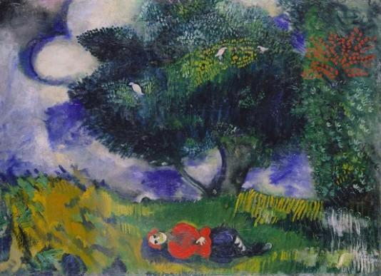 Marc Chagall, The poet with the birds (1911)