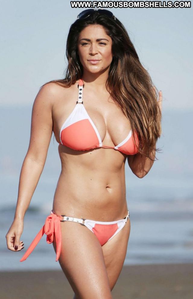 Casey Batchelor Babe Paparazzi Bikini Celebrity Beautiful Orange
