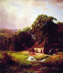 The Old Mill 1855 by Albert Bierstad