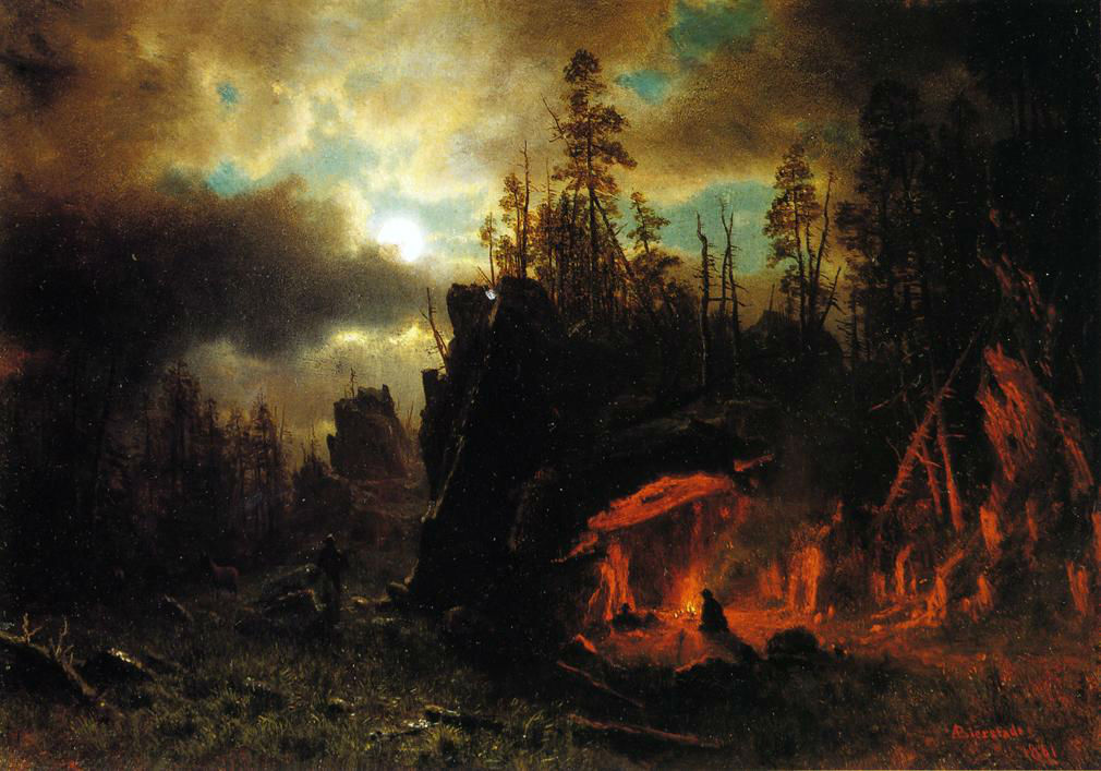 The Trapper S Camp 1861 by Albert Bierstad