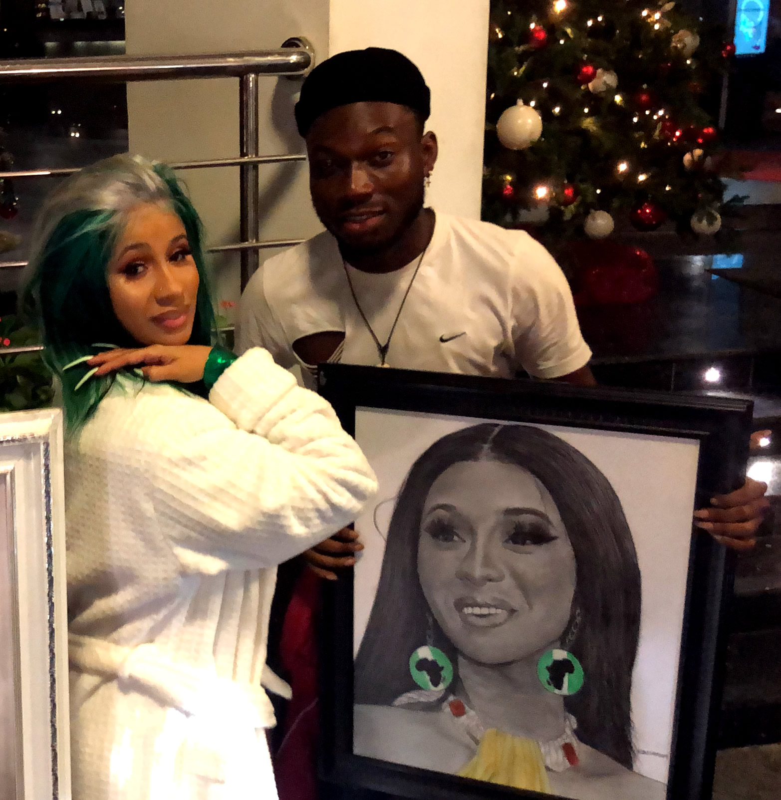 American Star, Cardi B Meets Nigeria's Celebrity Pencil Artist – Alesh Akeem